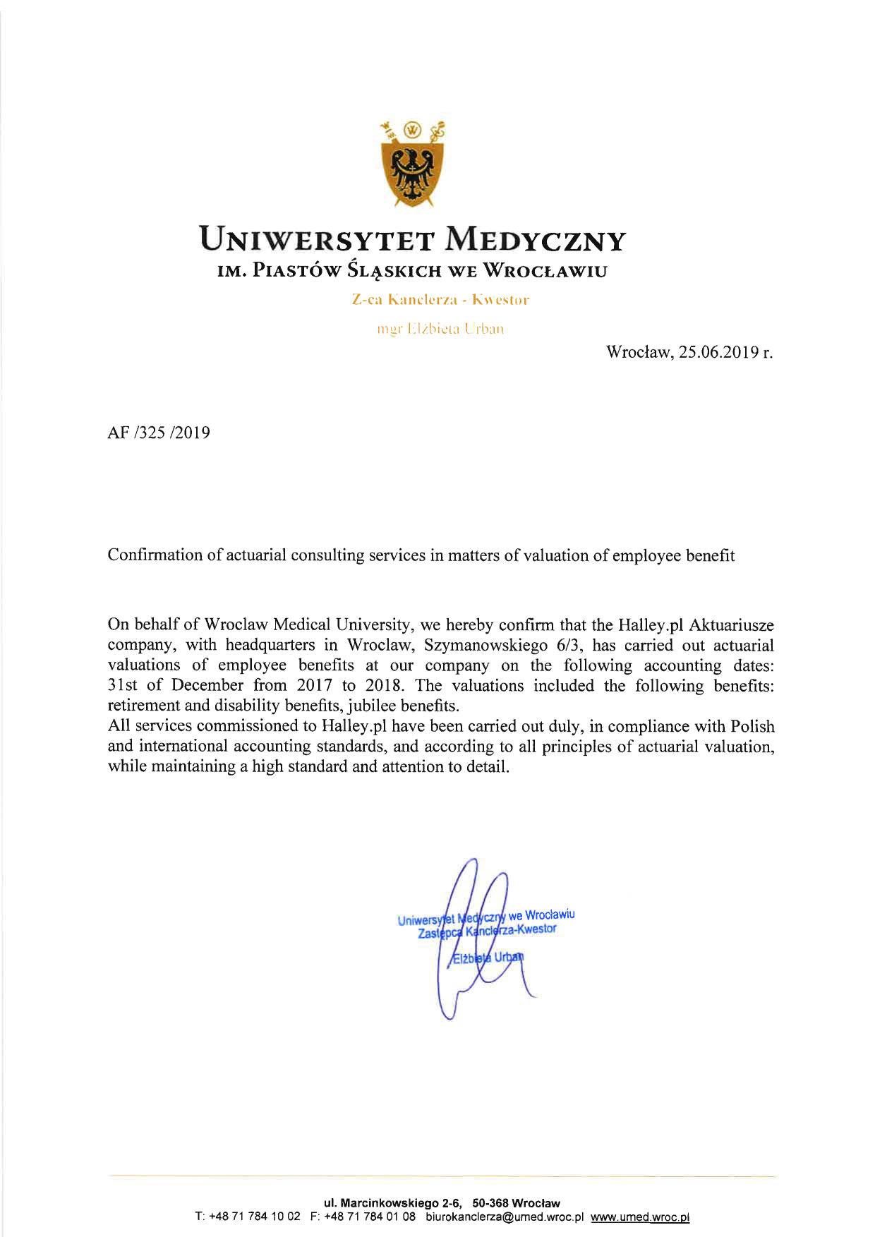 testimonials uniwersytet medyczny we wrocławiu