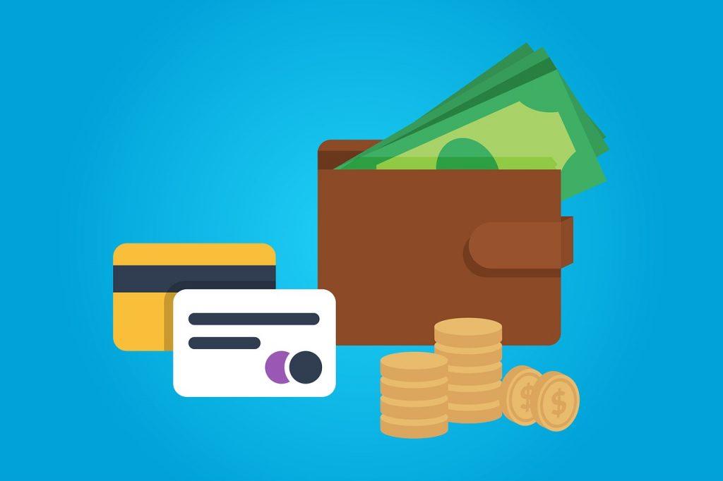 portfel gotówka karty płatnicze